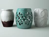 ceramic garden stools 3D model