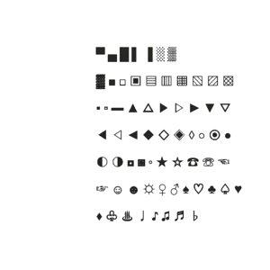 3D model symbols set7 cg cad