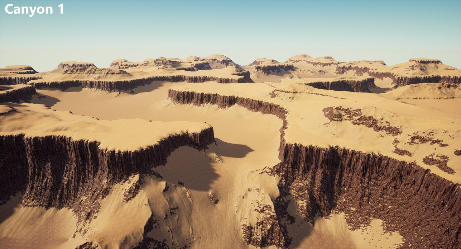 canyon terrains 3D model