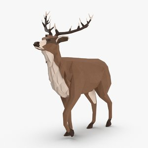 3D stag---walking model