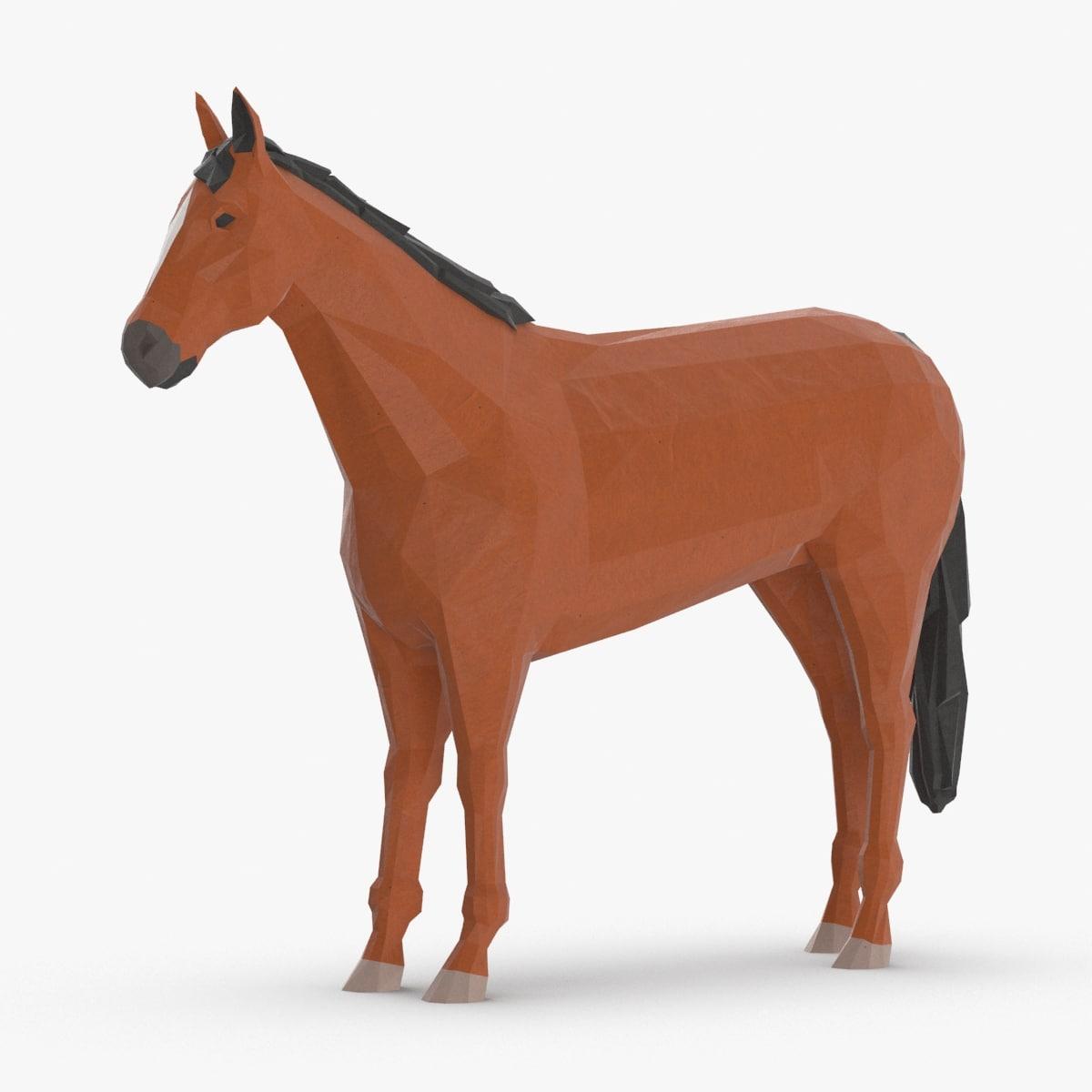 horse---standing 3D model