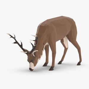 3D stag---eating