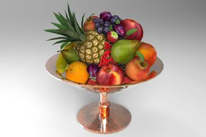 3D fruit plate model