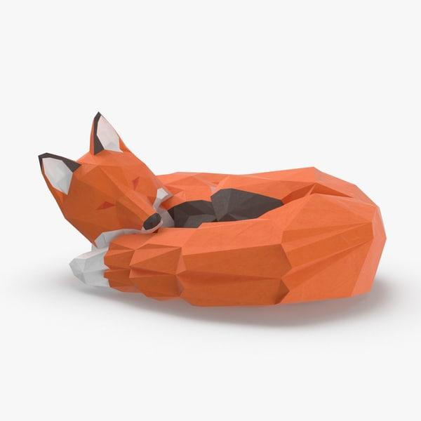fox---sleep 3D model