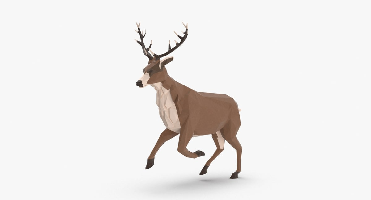 stag---running 3D model