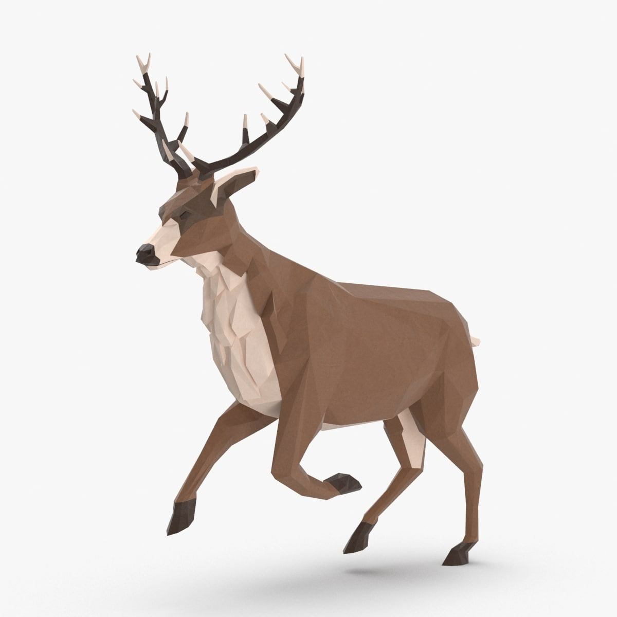 stag---running 3D model