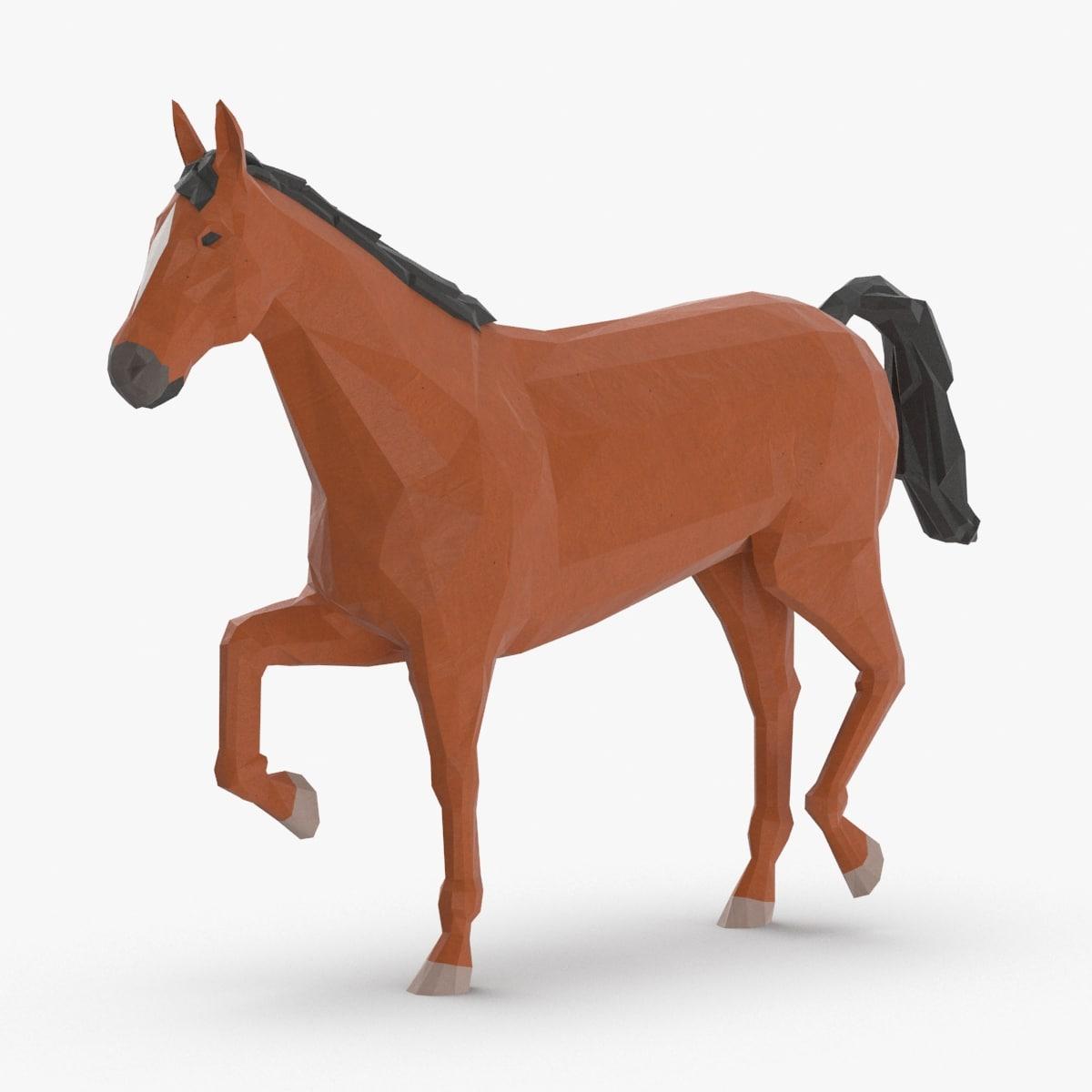 3D horse---walking model