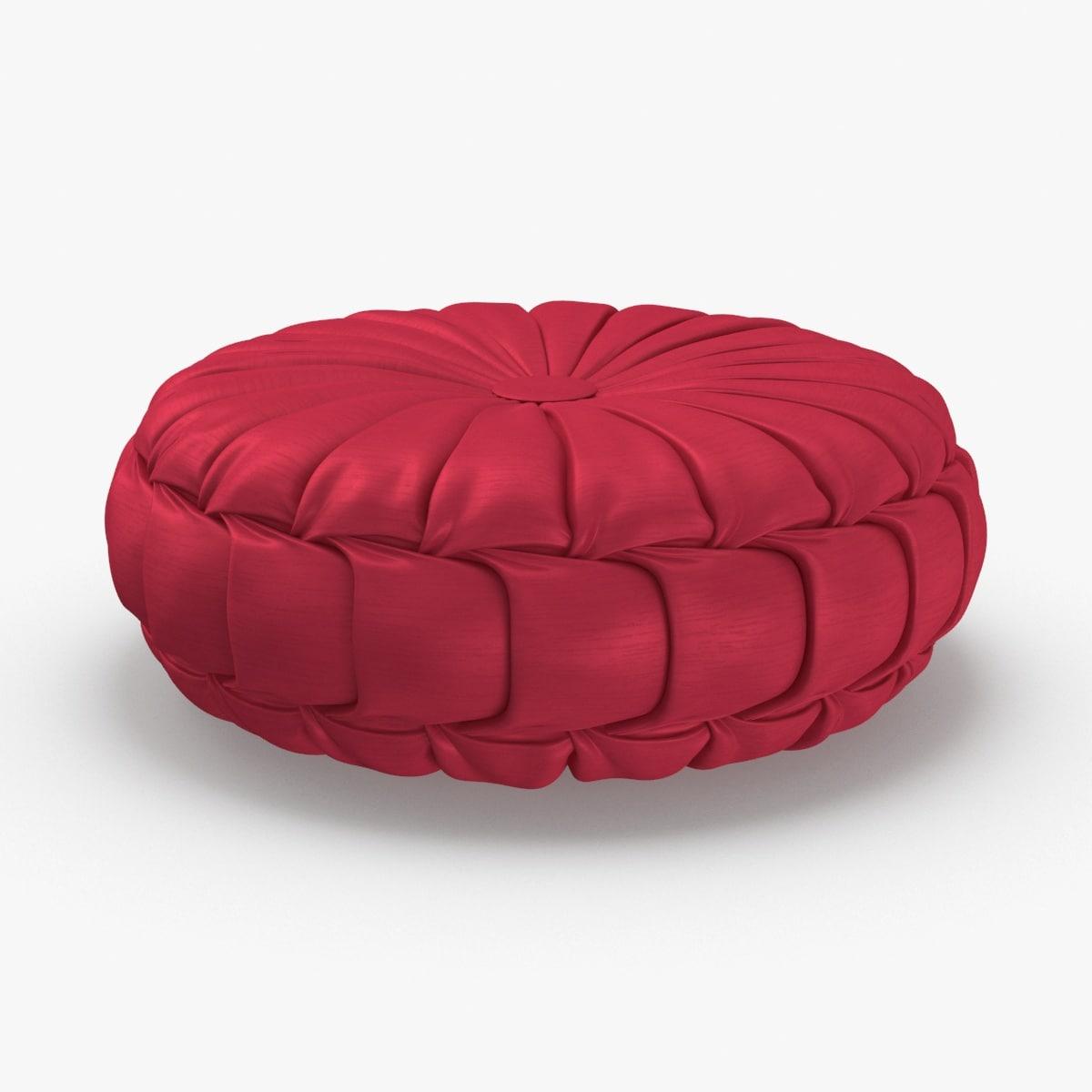 throw-pillow-05---red 3D model
