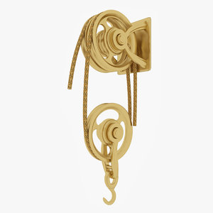 old brass pulley 3D model