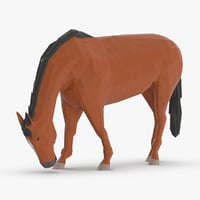 3D horse---eating
