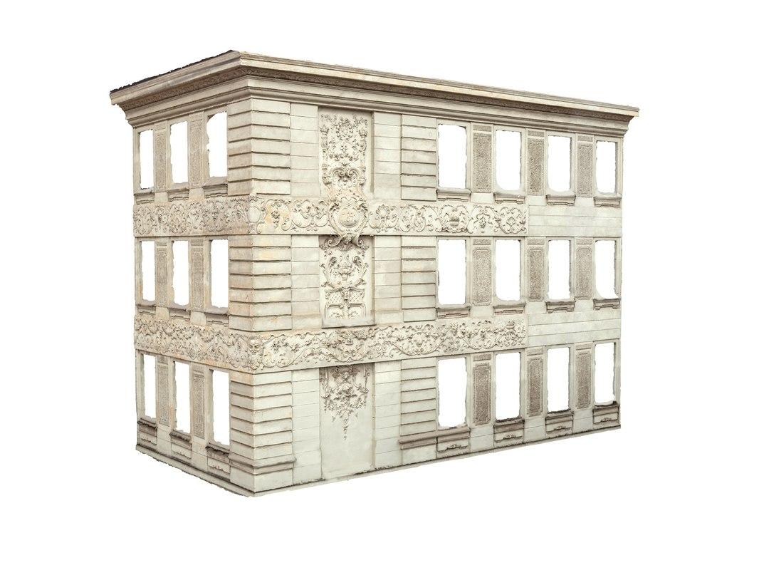 Attractive Baroque Facade Model