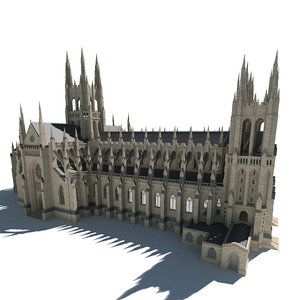 3D model cathedral