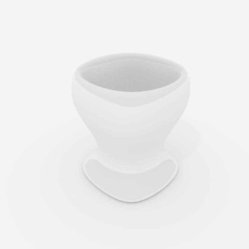 3D ceramic egg cup model
