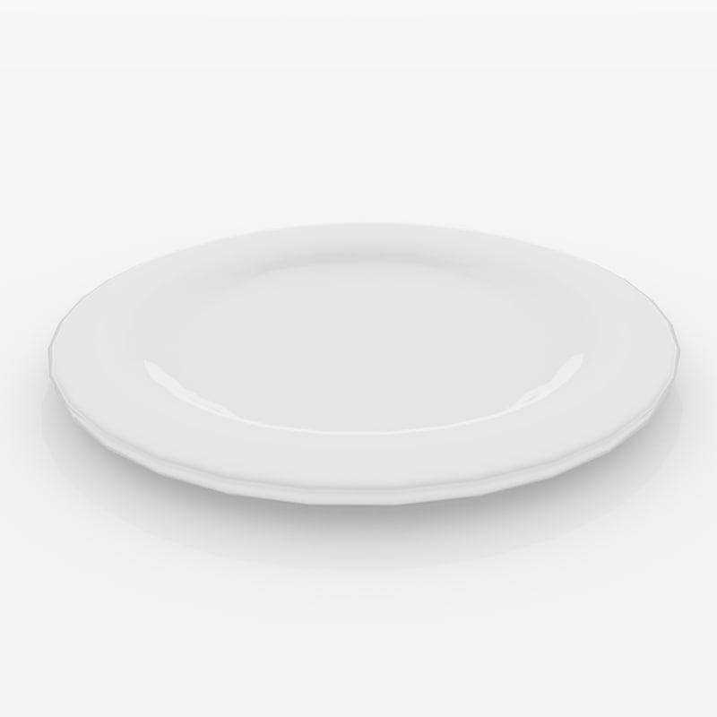 ceramic plate 3D