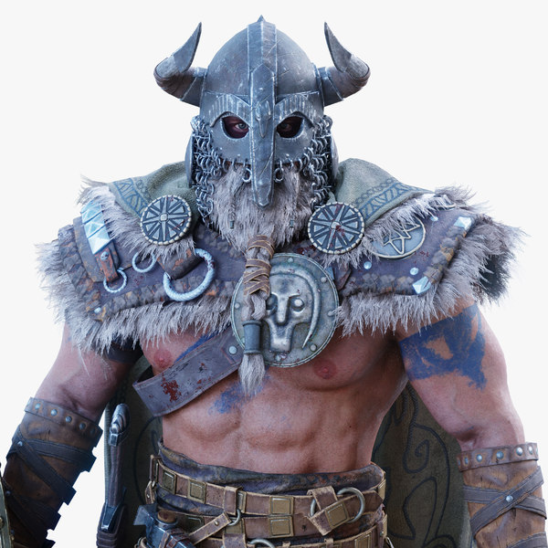 viking character pbr rigged 3D model