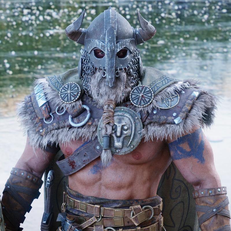 viking character pbr rigged 3D model