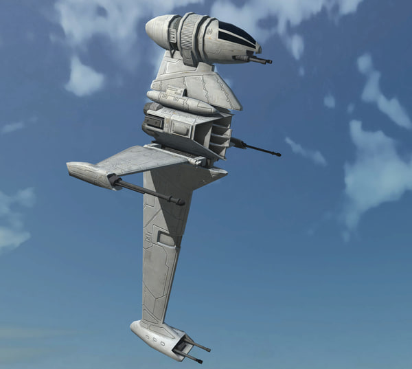 ready b-wing starfighte 3D
