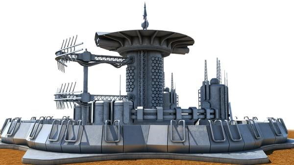 detection ranging station 3D model