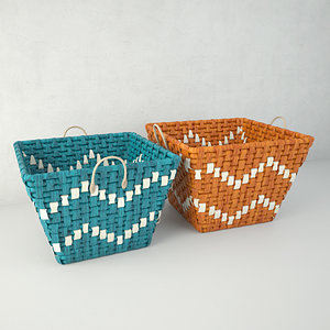 coloured basket zara home model