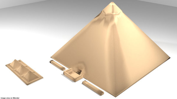 khufu pyramid 3D model