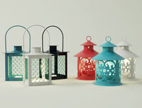 3D coloured lanterns tealightholders