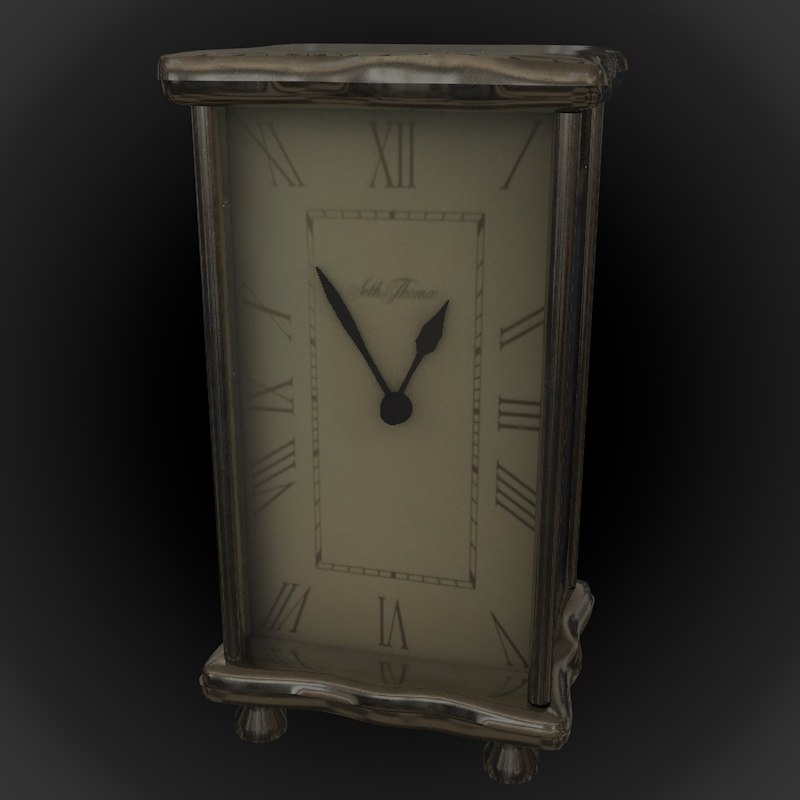 standing clock metal frame 3D model