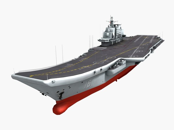 3D chinese aircraft carrier liaoning