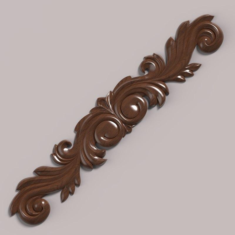 3D model decor carving