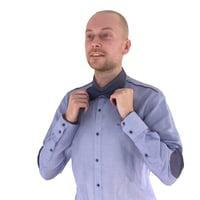 3D bow tie man human body model