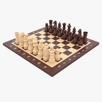 3D model chess pieces