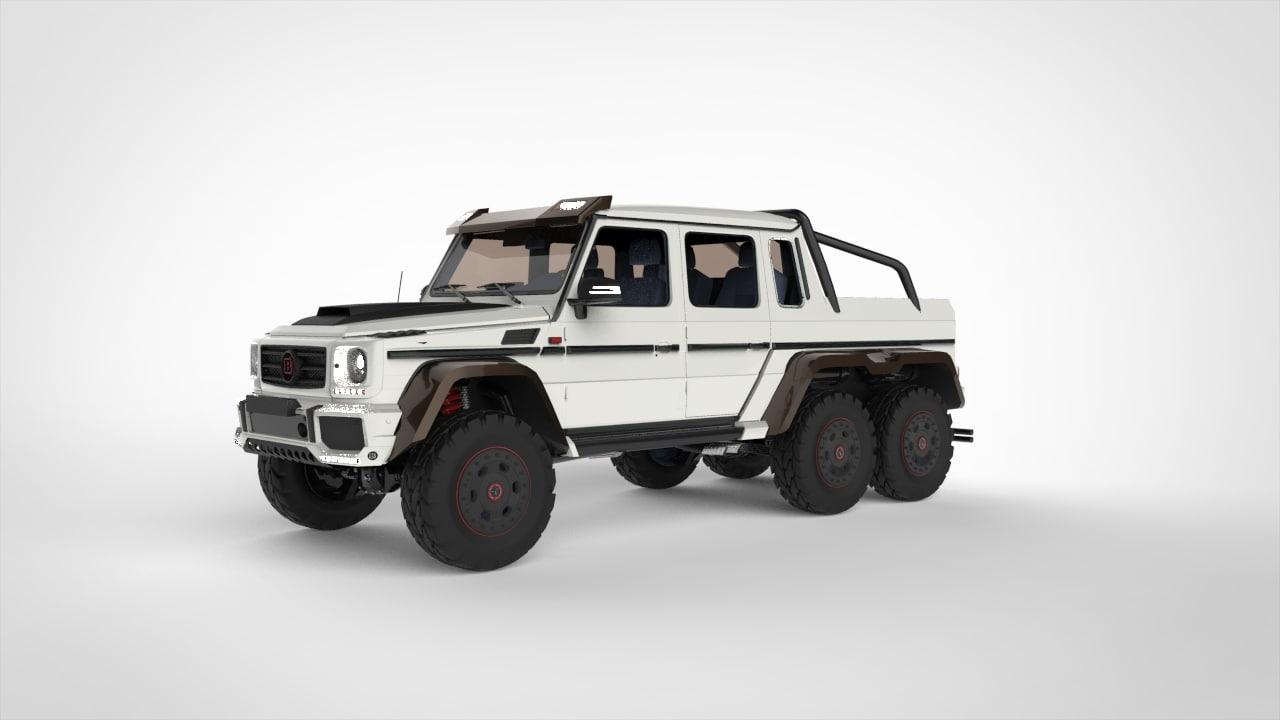 3D mercedes brabus g63 6x6 model