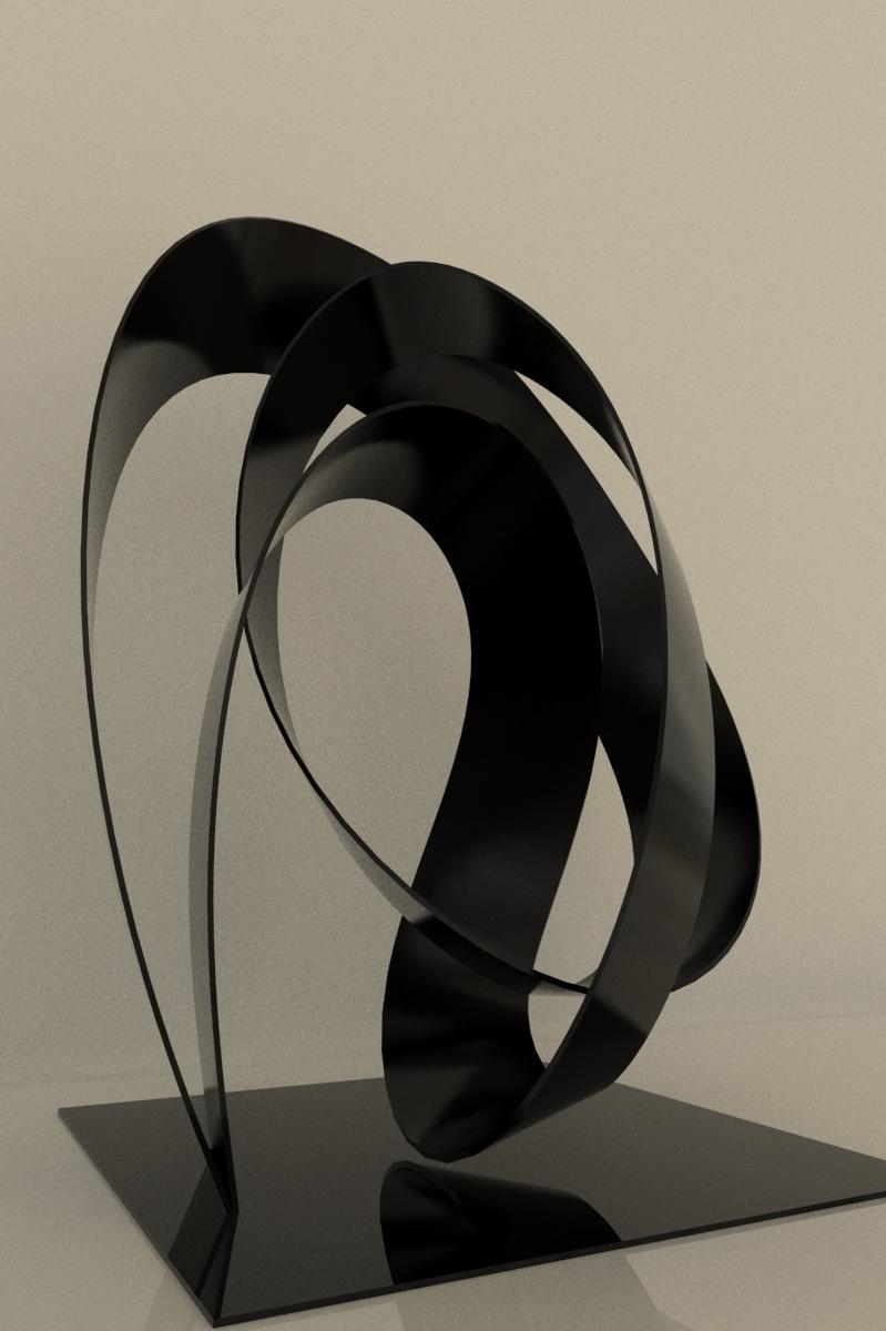 3D abstract matel sculpture model