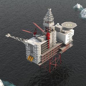 ringhorne oil platform model