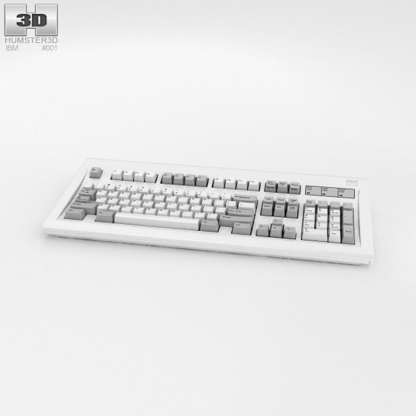 3D ibm m keyboard