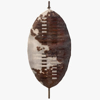 Zulu War Isihlangu Cow Hide Battle Shield