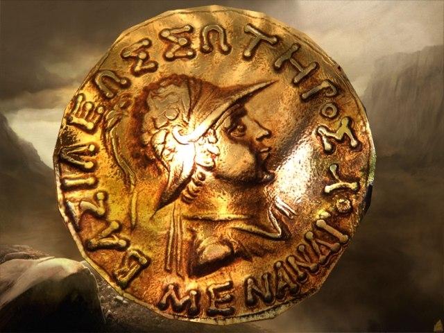 3D model coin greek