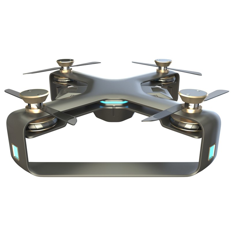 3D concept racing drone modelled