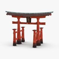 japanese-temple-gate 3D model