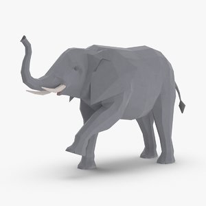 elephant---trunk-up 3D model