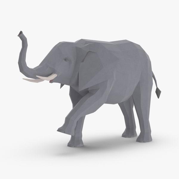 elephant---trunk-up 3D model