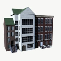 townhouse house 3D model