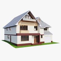 3D house family model