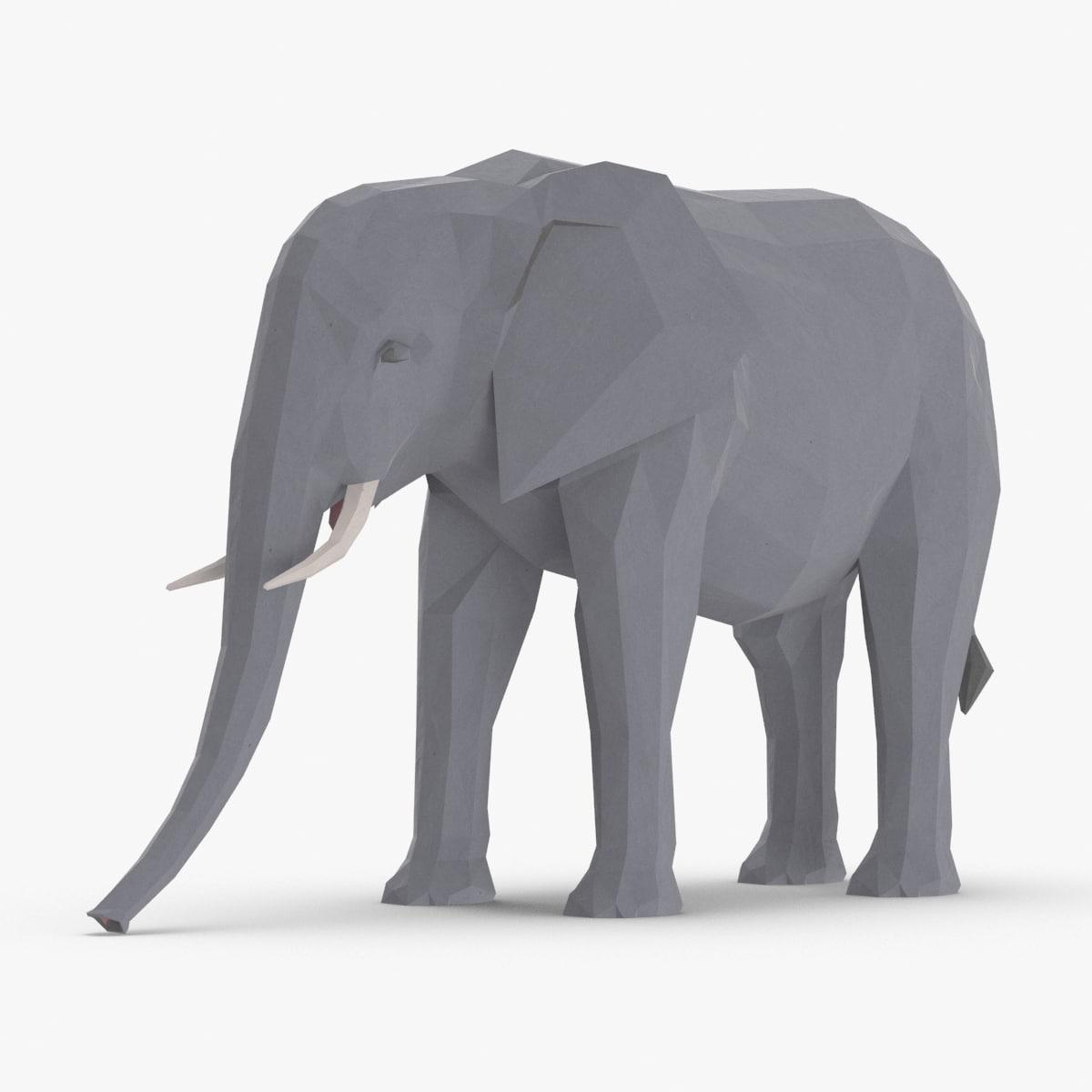 3D elephant---walking model
