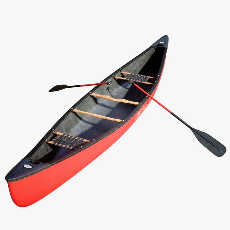3D octane canoe model