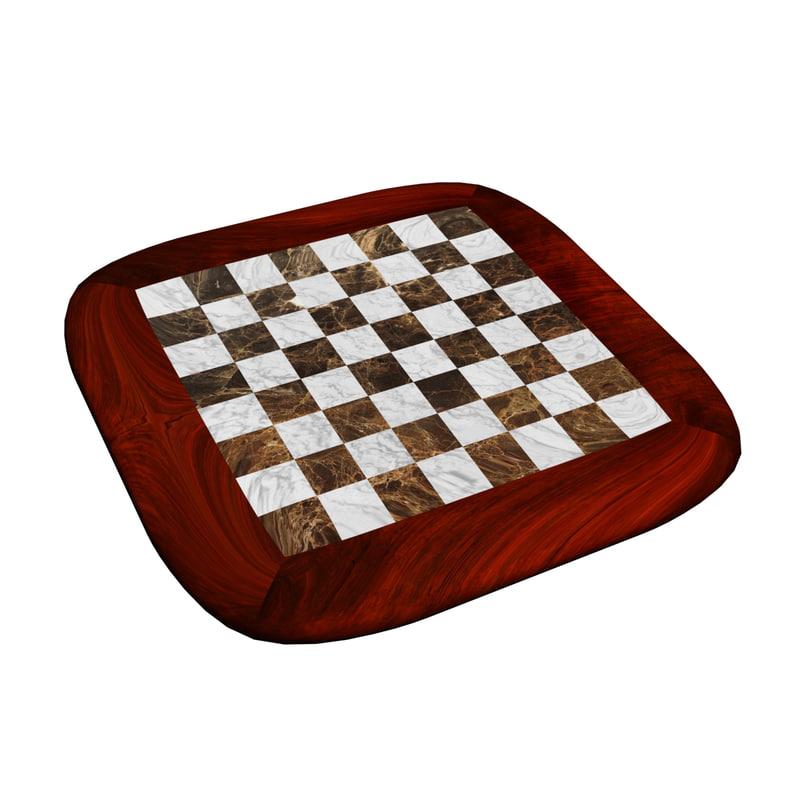 chessboard chess board 3D