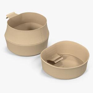 3D model folding cup large -