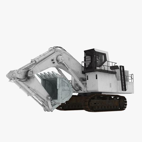 size gooseneck boom excavator 3D model