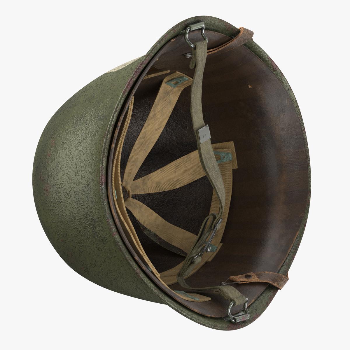3D mask wwii helmet 01 model