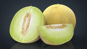galia melon 3D