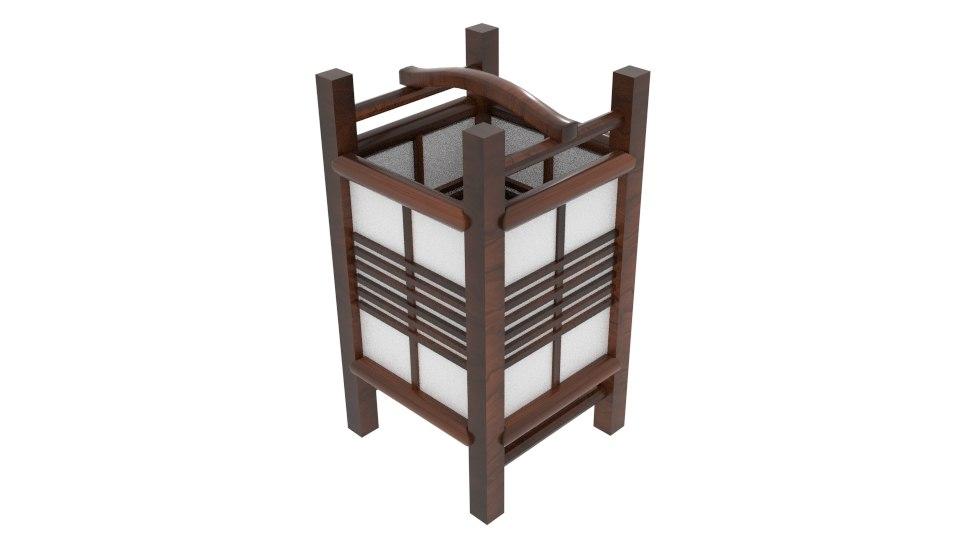 kaigan japanese lamp 3D model